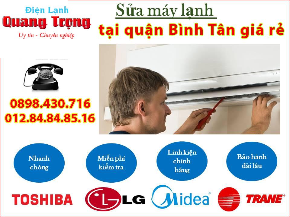 Sửa máy lạnh Bình Tân