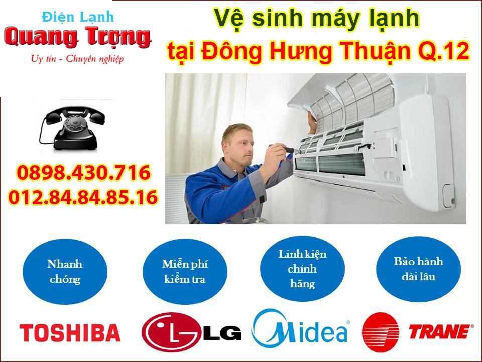 Dịch vụ vệ sinh máy lạnh tại Đông Hưng Thuận Quận 12